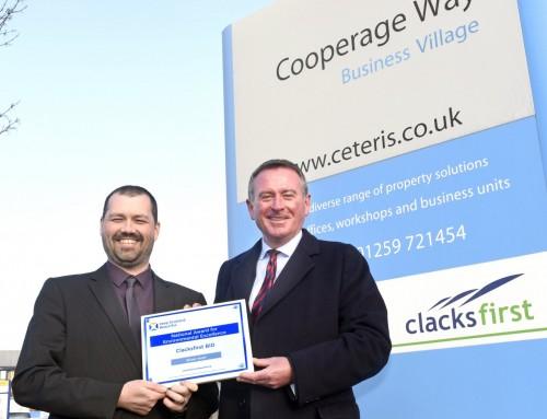 ClacksFirst BID presented with national environmental award